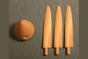 Ultracast Spitfire Mk V Rotol Wood Prop (Long) & Spinner