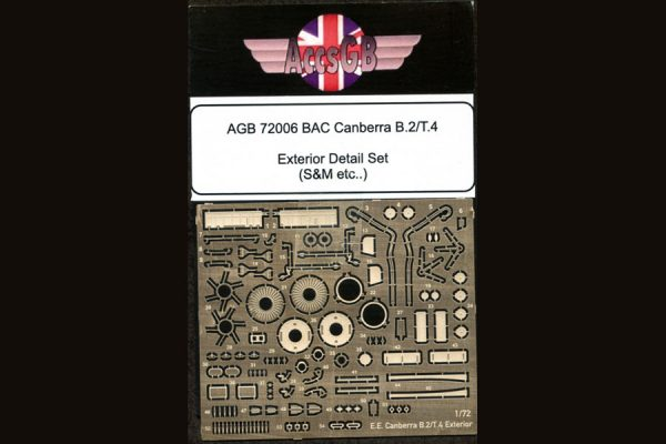 AGB BAC/EE Canberra B.2/T.4 Exterior Detail Set - 1/72 scale