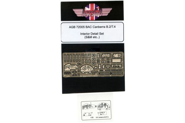 AGB BAC/EE Canberra B.2/T.4 Interior Set - 1/72 scale