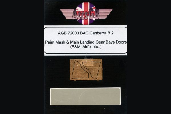 AGB BAC/EE Camberra T.4 Main U/C Doors and Paint Masks - 1/72