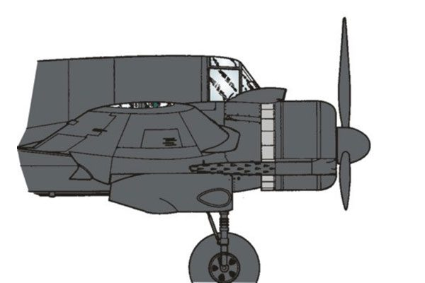 Red Roo Beaufighter Open Engine Cooling Gills