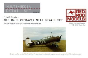 Red Roo CAC CA-9 Wirraway MkII Detail Set