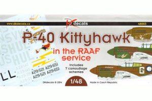DK Decals P-40 Kittyhawk in RAAF Service - 1/48