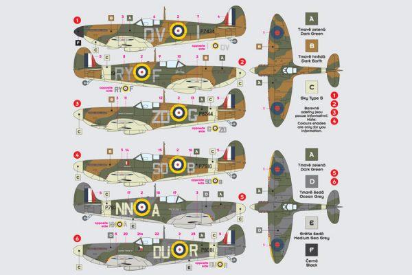 Spitfire Mk I/II Czech Pilots - RAF