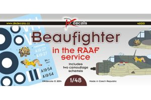 DK Decals Beaufighter in RAAF Service - 1/48 Scale