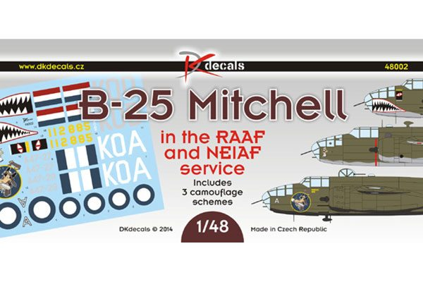 DK Decals B-25 Mitchell in RAAF and NEIAF Service - 1/48