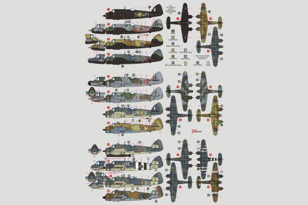 DK Decals Bristol Beaufighter in RAF & Commonwealth Service