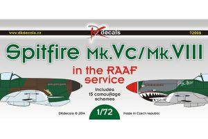 DK Decals Spitfire Mk Vc/ Mk VIII RAAF Service - 1/72