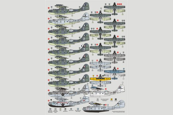 DK Decals PBY Catalina, RAAF, NG Expedition, TEAL, etc -1/72 Scale