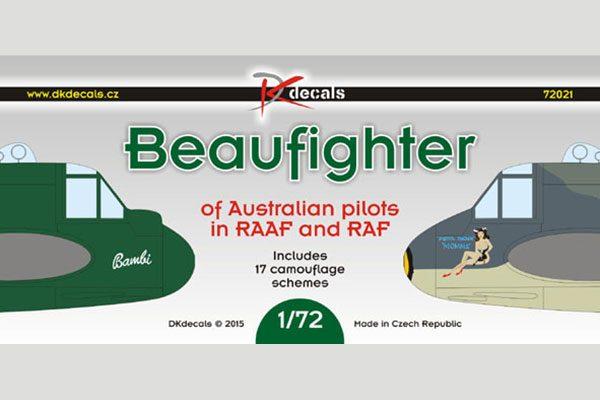 DK Decals Beaufighter Australian Pilots RAAF and RAF - 1/72 scale