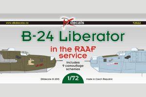 DK Decals B-24 Liberator - RAAF Service - 1/72 Scale