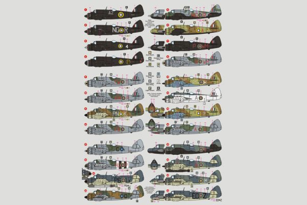 DK Decals Bristol Beaufighter RAF and Commonwealth - 1/72 Scale