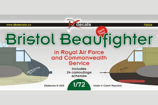 DK Decals Beaufighter in RAF and Commonwealth Service - 1/72