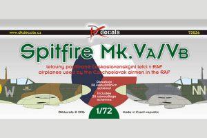 Spitfire Mk.VA/VB Czech Pilots RAF - 1/72