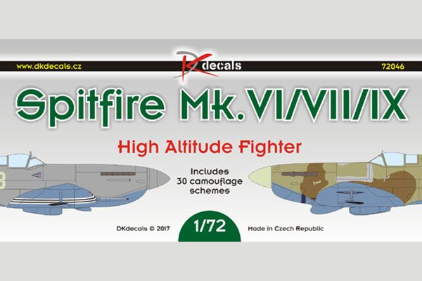 DK Decals Spitfire Mk VI/VII/IX