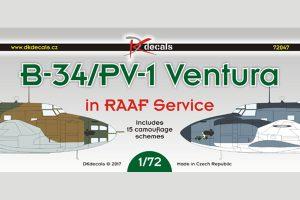 DK Decals B-34/PV-1 Ventura in RAAF Service