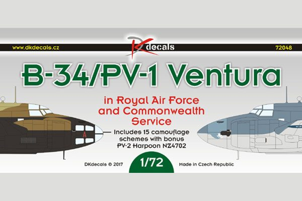 B-34/PV-1 Ventura RAF and Commonwealth Service