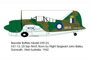 Red Roo Brewster Buffalo M339-23, 25 Sqn RAAF, Perth 1942 - 1/48