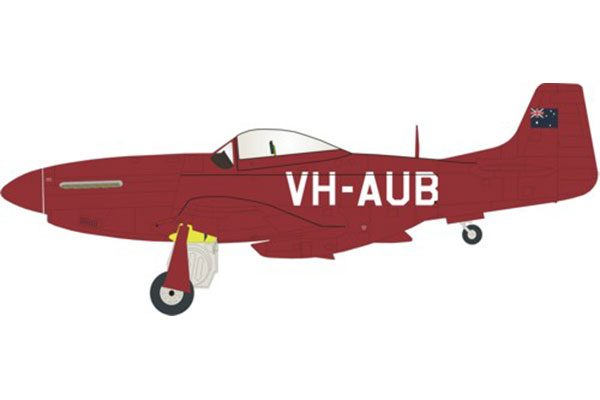 Red Roo VH-AUB, all red -1/48
