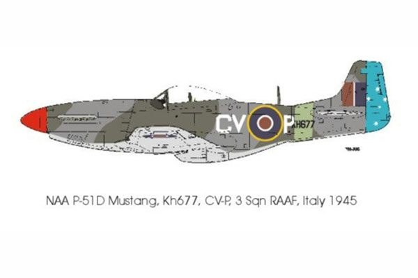 Red Roo Mustang IV, 3 Sqn RAAF, Italy 1944 - 1/48