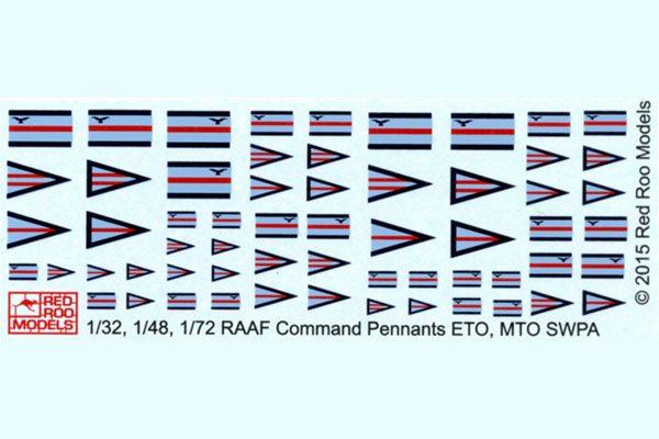 Rank Pennants - 1/32, 1/4 & 1/72 Scales