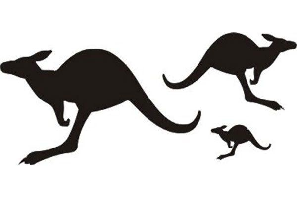 Red Roo Black Kangaroos - all scales, various sizes