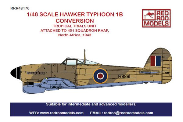 Red Roo Hawker Typhoon 1B Tropical Conversion