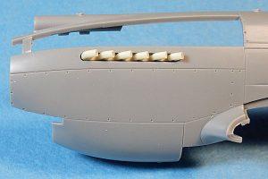 Ultracast P-40B/C Tubular Exhausts for Airfix Kit