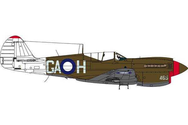 Red Roo 75 Squadron RAAF Late WWII P-40N - 1/48 Scale