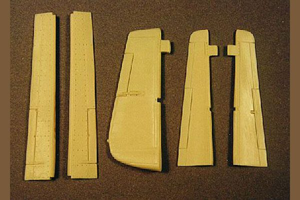 Ultracast P-51D Mustang Control Surfaces