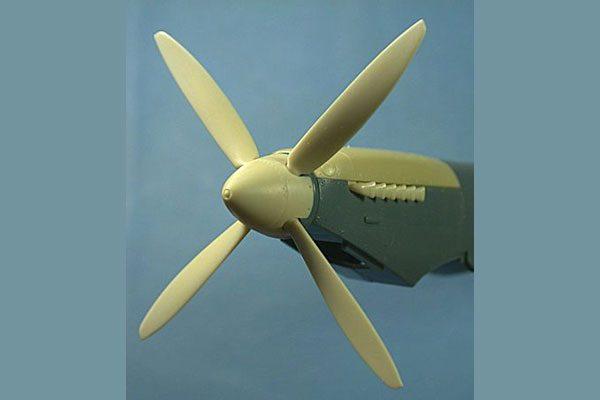 Ultracast Spitfire Mk IX 4-Blade Prop & Spinner (fits Eduard kit)